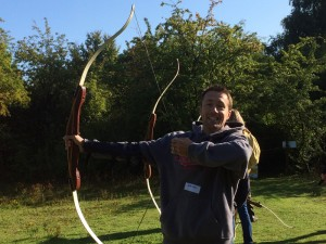 Archery - a break from conservation work