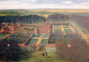 Jan Siberechts painting of Cheveley mansion c.1703